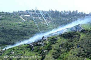 Tear gas on the hillside of Nabi Salih